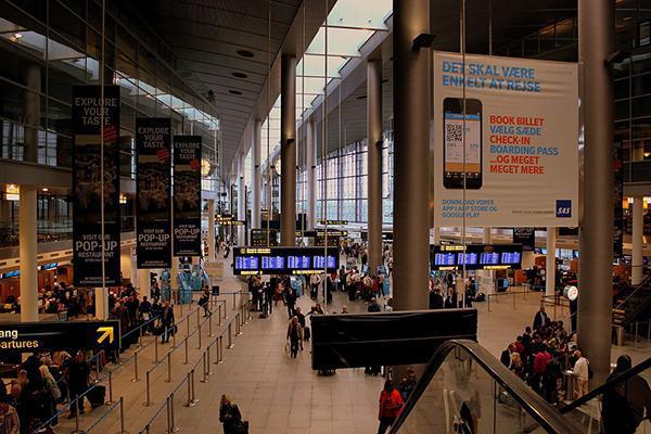 Inside Copenhagen Airport Kastrup