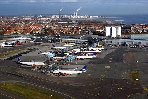 Aerial view of Copenhagen Kastrup Terminal 3