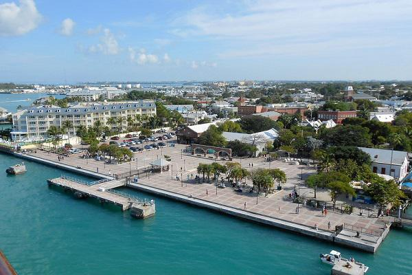 View of Key West from a cruise ship