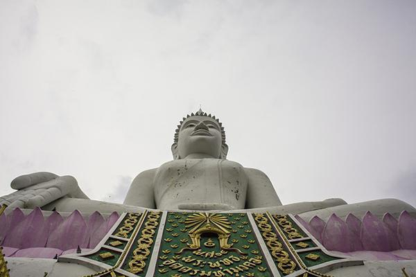 A low angle view of Big Buddha in Khon Kaen, Thailand