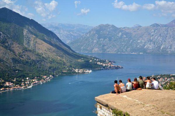 Kotor is a fortified town on Montenegro's Adriatic coast, in a bay near the limestone cliffs of Mt. Lovćen.