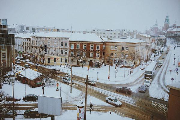 Snowy Krakow is a winter wonderland