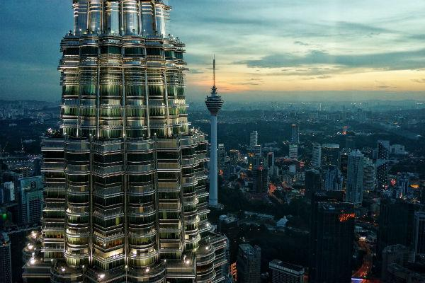 The futuristic skyscrapers of Kuala Lumpur are truly an awe-inspiring sight.