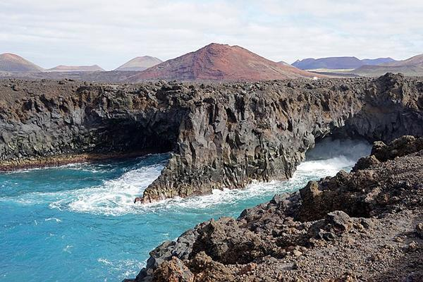 Los Hervideros, the volcanic coastline of Lanzarote, Canary Islands