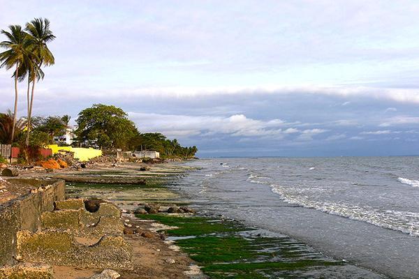 A moody beach scene in Libreville, Gabon