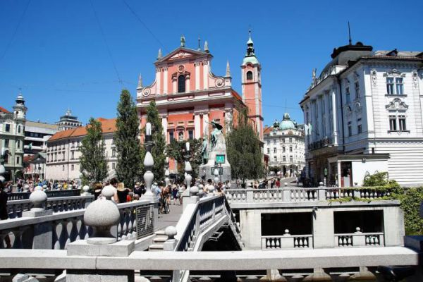 Ljubljana is Slovenia's capital and largest city. It's known for its university population and green spaces.