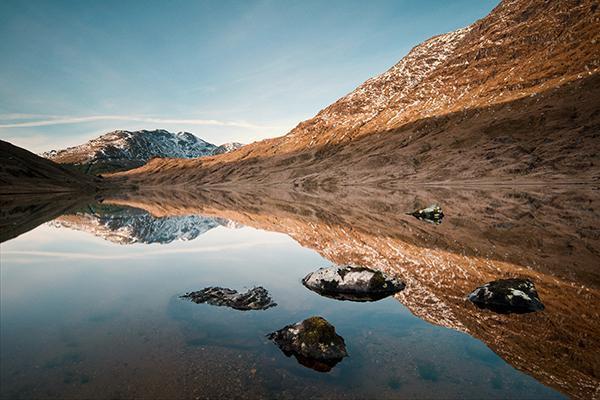 Loch Restil, Cairndow, in Trossach National Park, United Kingdom