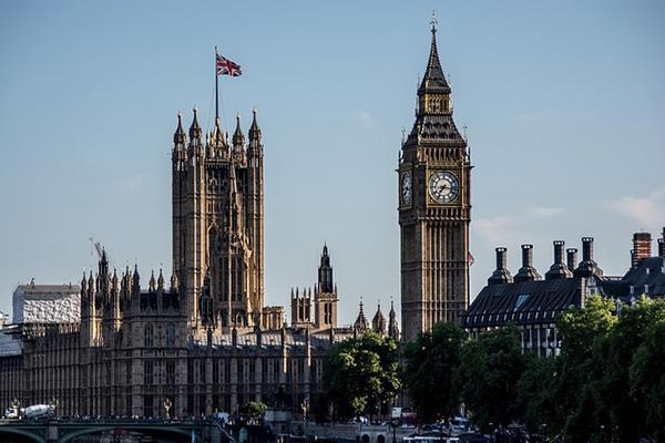 View of Westminster and Big Ben in London, UK