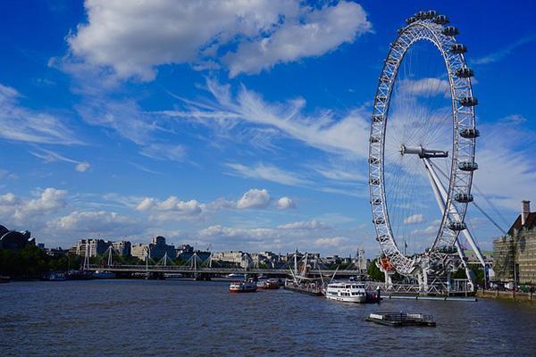 The London Eye Ferris Wheel in London, England