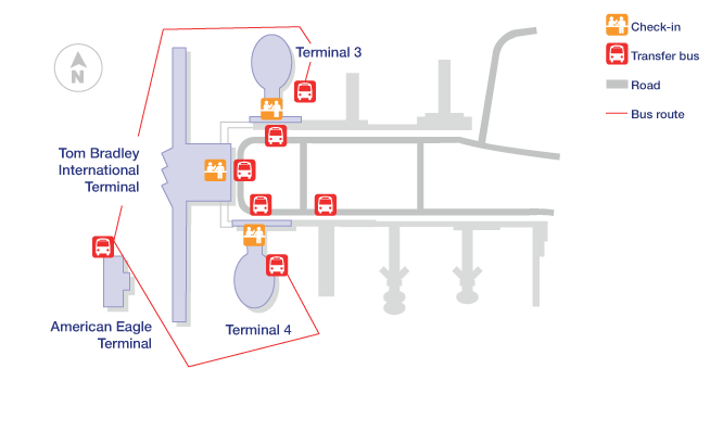 Los Angeles Airport Terminal Map
