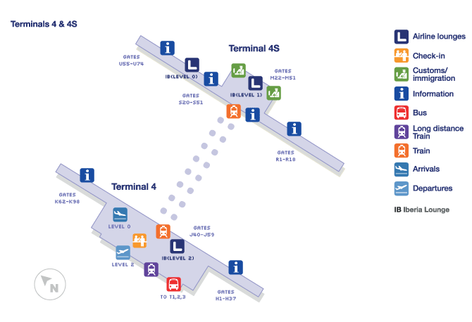 Madrid terminal map