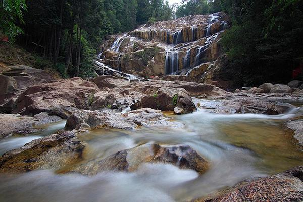 Kuantan waterfalls in the thick forest of Kuantan, Malaysia