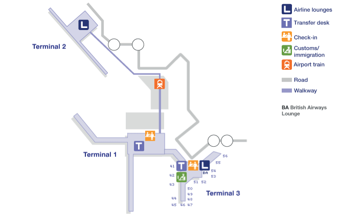 Manchester Airport Terminal Map