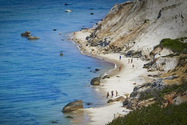 Aquinnah Beach on Martha's Vineyard is a favourite spot
