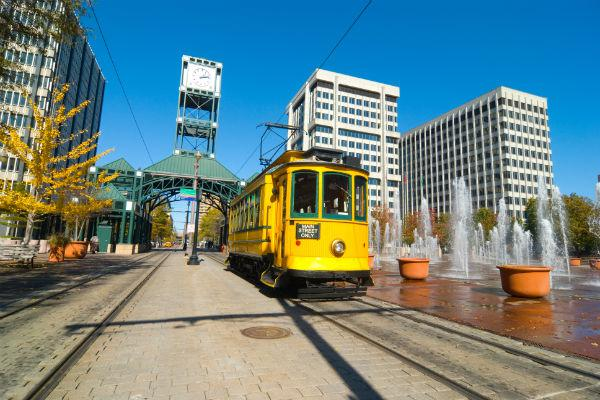 Memphis is well known for its heritage streetcars.