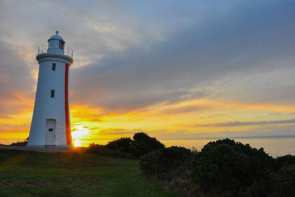 Head to Mersey Bluff Lighthouse at change of light, and you'll be rewarded with one of the most stunning sights in Devonport.
