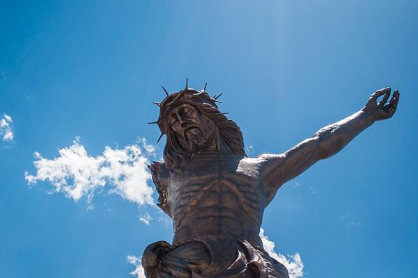 The Broken Christ statue in Aguascalientes, Mexico