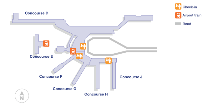 miami airport terminal map