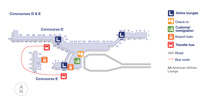 miami international airport terminal map
