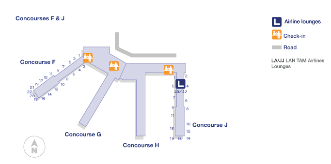 miami airport terminal layout