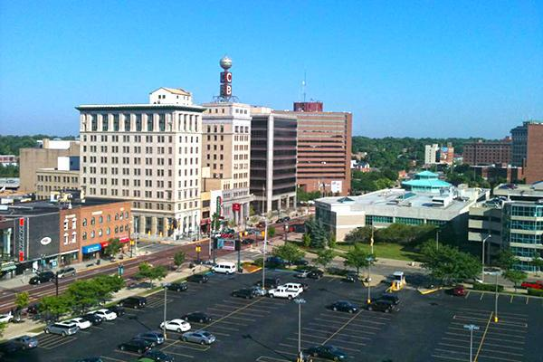 Downtown Flint, Michigan taken from Genesee Towers