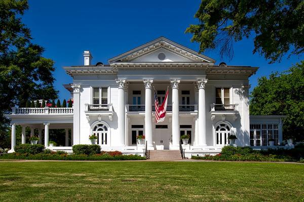 The Governor's Mansion stands proudly in picturesque Montgomery, Alabama