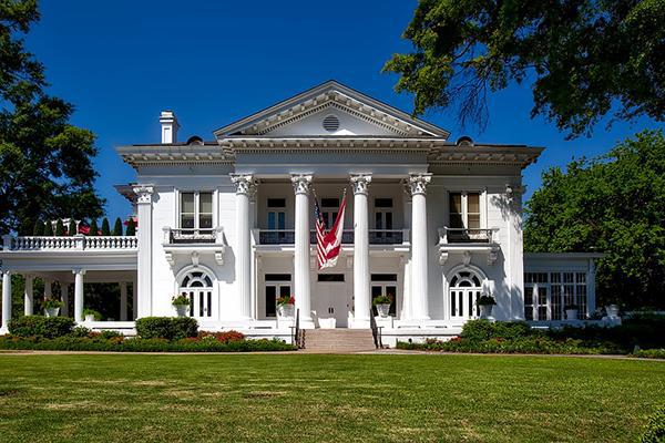 The Governor's Mansion looking stately in Montgomery, Alabama