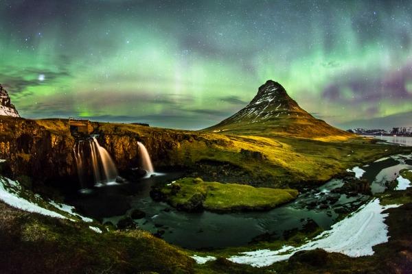 Mt Kirkjufell Aurora Borealis Iceland
