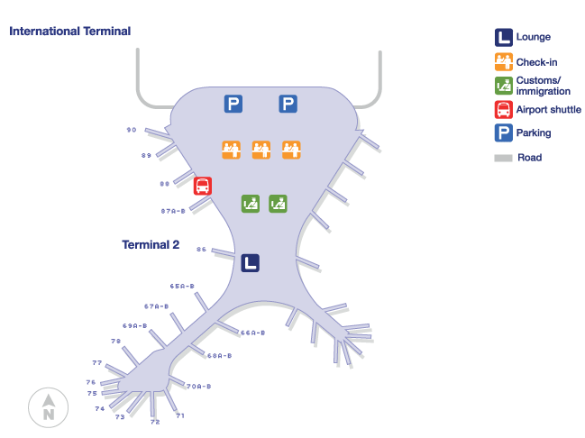 mumbai airport international terminal map