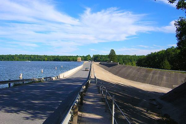 The Hardy Dam on the Muskegon River in Michigan