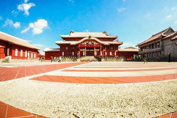 Shuri Castle is a major attraction of Naha