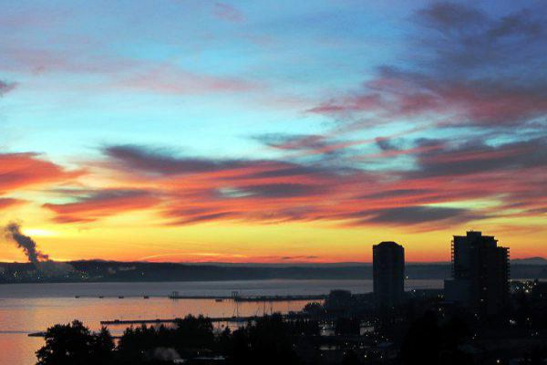 Watch one of many beautiful sunsets in Nanaimo.