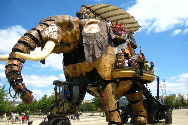 The mechanical elephant of Nantes is one of the city's most noteworthy sights.