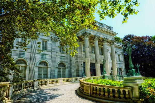 The Marble House looking grand in the summer sun in Newport, Rhode Island