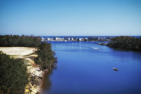 A serene inlet in the coast city of Wilmington, North Carolina