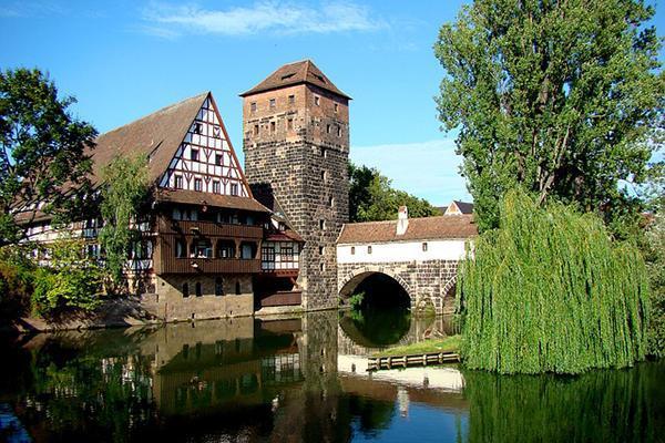 The Hangman's Bridge of Old Town in Nuremberg, Germany