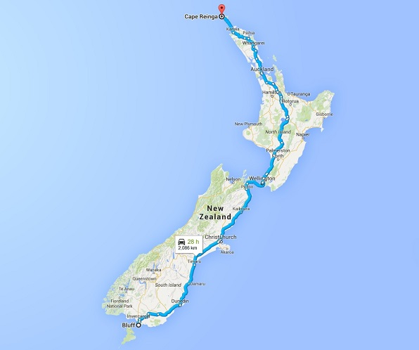 New Zealand North to South Journey