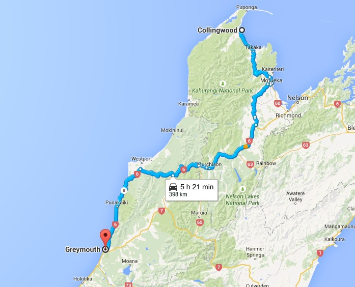 Collingwood to Greymouth