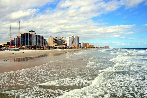 Bustling Daytona Beach, Florida