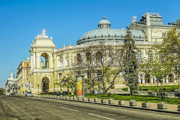 The grand, ornate Odessa National Academic Theatre of Opera and Ballet in Odessa, Ukraine