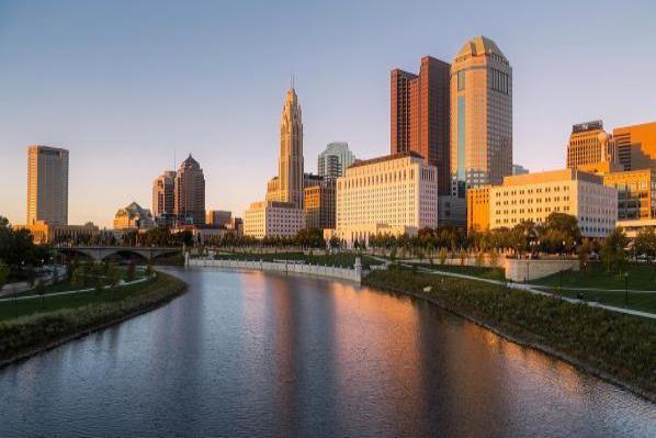 The city skyline of Columbus.