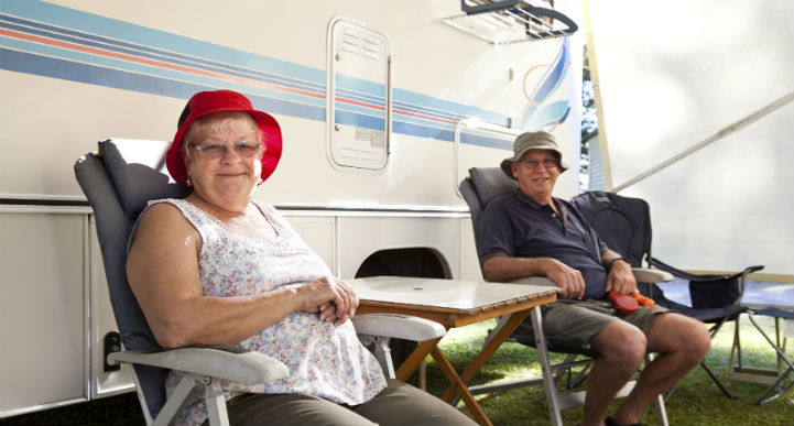 senior camping