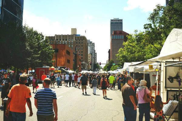 Street markets are a common feature in Omaha, come the weekend.