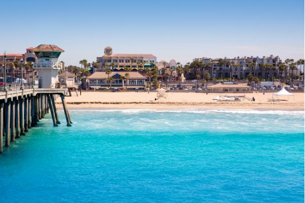 Huntington Beach in Orange County