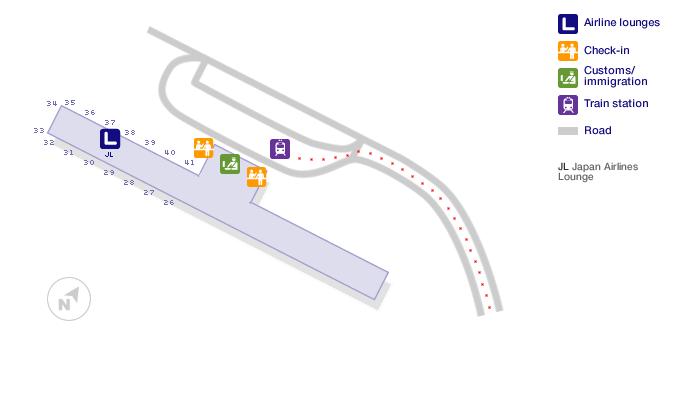 osaka airport terminal map