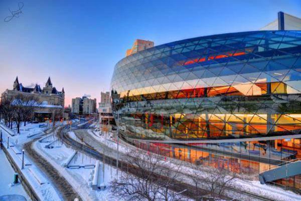 The modern convention centre in Ottawa.