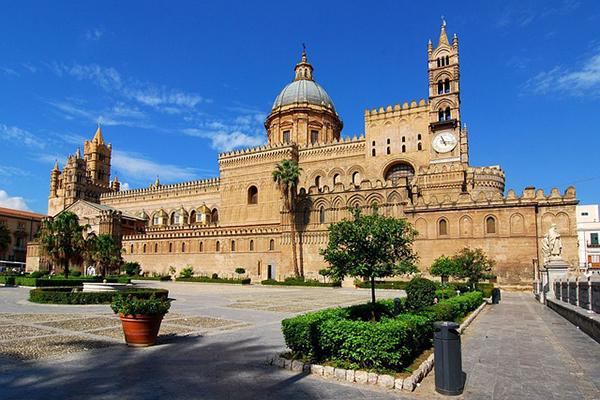 The grand Palermo Cathedral in Sicily, Italy
