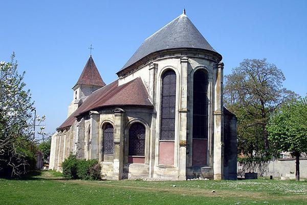 Bedside of Saint-Eloi church in Roissy-en-France (Val-d'Oise), France