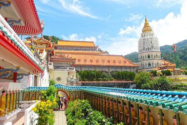 Colourful temples and pagodas on Penang Island, Malaysia