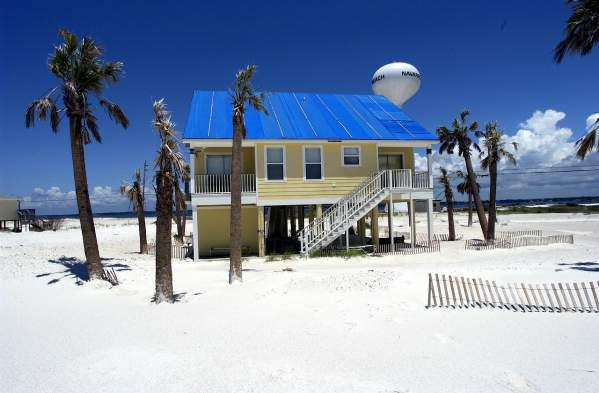 Time to relax at a beach house close to the Pensacola Beach boardwalk.